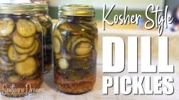 Kosher Style Dill Pickle Recipe with Canning Instructions